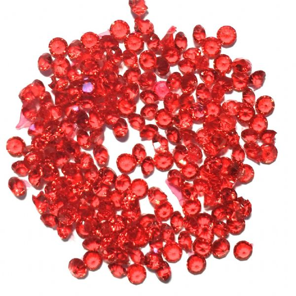 Resin sparkling crystals - 3mm - SIAM RED